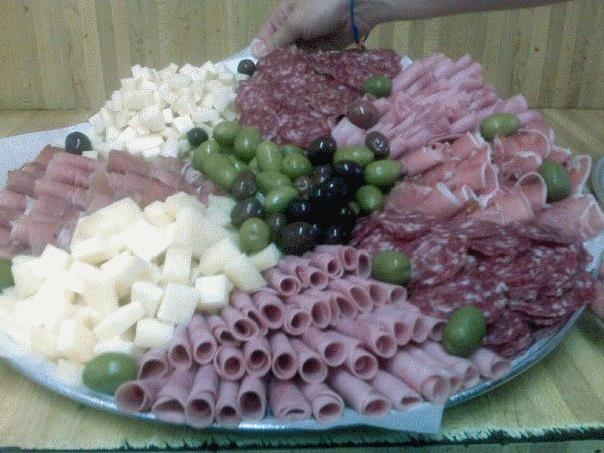 Our catering meat & cheese platter